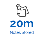 Icon of 20 million notes stored