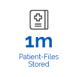 Icon of 1 million patient files stored