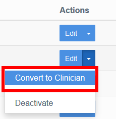 convert to clincian